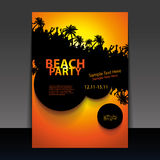 Flyer or Cover Design - Beach Party Royalty Free Stock Images