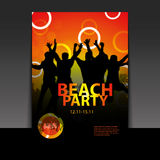 Flyer or Cover Design - Beach Party Royalty Free Stock Photo