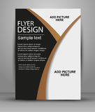Flyer or Cover Design - Business. Vector for publishing, print and presentation Stock Image