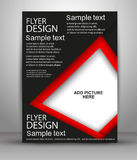 Flyer or Cover Design - Business Vector for publishing, print and presentation. Vector illustration Stock Photos