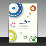 Flyer or Cover Design with Circles Stock Photo