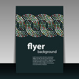 Flyer or Cover Design with Circular Dots Pattern Stock Photo