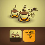 Flyer or Cover Design - Coffee Cups Royalty Free Stock Image