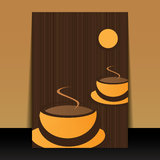 Flyer or Cover Design - Coffee Cups Stock Image
