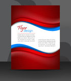 Flyer or cover design, corporate banner Royalty Free Stock Photography