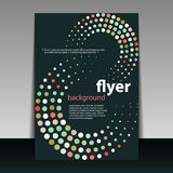Flyer or Cover Design with Dots Royalty Free Stock Photography