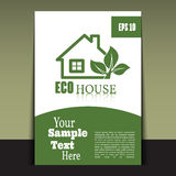 Flyer or cover design green house. Brochure or report for busine Stock Photography