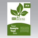 Flyer or cover design green house. Brochure or report for busine Royalty Free Stock Images
