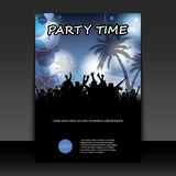 Flyer or Cover Design - Party Time Stock Image