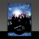 Flyer or Cover Design - Party Time Royalty Free Stock Image