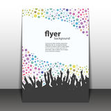 Flyer or Cover Design - Party Time - Dotted Background with Hands Royalty Free Stock Images