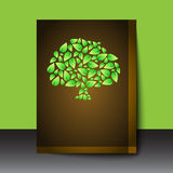 Flyer / cover design with tree shape Stock Image