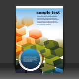 Flyer Design. Colorful Flyer Design with hexagons Royalty Free Stock Image
