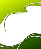 Flyer design. Green halftone background - flyer design Royalty Free Stock Images