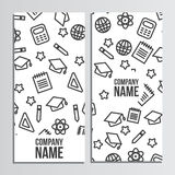 Flyer design with back to school pattern. Back to school brandin Royalty Free Stock Images