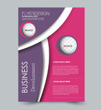 Flyer design background. Brochure template. royalty free illustration