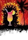 Spring Break Beach Cocktail Party. Flyer design for beach cocktail party. Eps 10  file Stock Photo