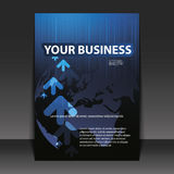 Flyer Design - Business. Blue Business Flyer Design with arrows Royalty Free Illustration