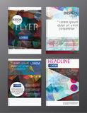 Flyer design business annual report brochure template. cover pre. Sentation abstract background for business, magazines Royalty Free Stock Images