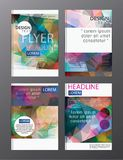 Flyer design business annual report brochure template. cover presentation abstract background for business, magazines. E vector illustration