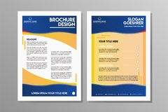 Flyer design. Business brochure template. royalty free illustration