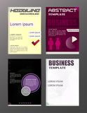 Flyer design business and technology  icons, creative template d. Esign for presentation, poster, cover, booklet, banner Royalty Free Stock Image