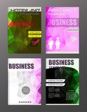 Flyer design business and technology  icons, creative template d. Esign for presentation, poster, cover, booklet, banner Royalty Free Stock Photo