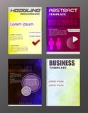 Flyer design business and technology  icons, creative template d. Esign for presentation, poster, cover, booklet, banner Royalty Free Stock Images