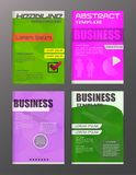 Flyer design business and technology  icons, creative template d. Esign for presentation, poster, cover, booklet, banner Stock Images