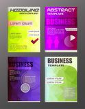 Flyer design business and technology  icons, creative template d. Esign for presentation, poster, cover, booklet, banner. eps.10 Stock Image