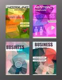 Flyer design business and technology  icons, creative template d. Esign for presentation, poster, cover, booklet, banner. eps.10 Royalty Free Stock Images