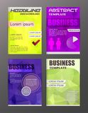 Flyer design business and technology  icons, creative template d. Esign for presentation, poster, cover, booklet, banner Royalty Free Stock Photos