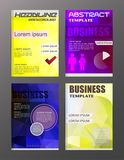 Flyer design business and technology  icons, creative template d. Esign for presentation, poster, cover, booklet, banner Stock Photography