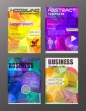 Flyer design business and technology  icons, creative template. Flyer design business and technology  icons, creative template design for presentation, poster Stock Image