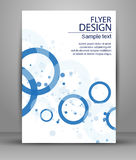 Flyer Design - Business. Vector template Royalty Free Stock Photo