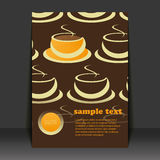 Flyer Design - Coffee Cups Royalty Free Stock Photography