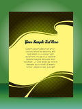 Flyer design Royalty Free Stock Images
