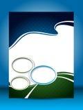 Flyer design Stock Photography