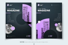 Flyer design. Corporate business report cover, brochure or flyer. Design. Leaflet presentation. Teal Flyer with abstract circle, round shapes background. Modern Royalty Free Stock Image