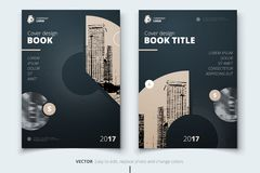 Flyer design. Corporate business report cover, brochure or flyer. Design. Leaflet presentation. Teal Flyer with abstract circle, round shapes background. Modern Stock Photos