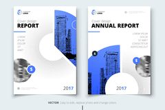 Flyer design. Corporate business report cover, brochure or flyer. Design. Leaflet presentation. Teal Flyer with abstract circle, round shapes background. Modern Royalty Free Stock Photo