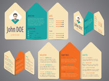 Flyer design cv resume template Royalty Free Stock Photography