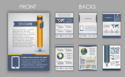 Flyer design with elements of infographics Royalty Free Stock Photos