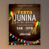 Flyer design for festa juinina festival season Royalty Free Stock Photography