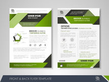 Flyer design layout Stock Photo