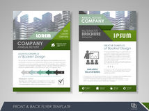 Flyer design layout Royalty Free Stock Photos