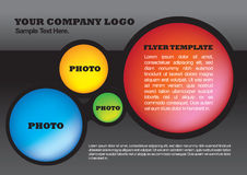 Flyer design layout template Royalty Free Stock Images