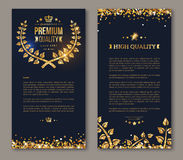 Free Flyer Design Layout Template Laurel Wreath Stock Images - 68226314