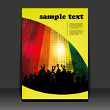 Flyer Design - Party Time Royalty Free Stock Photo