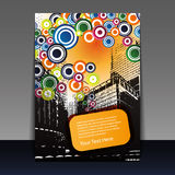 Flyer Design - Party Time. Abstract Coloful Party Flyer or Cover Design with Urban Landscape and Bubbles - Illustration in Freely Scalable & Editable Vector vector illustration